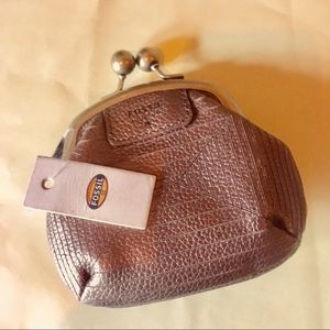 Fossil Bags - Fossil Amanda coin purse metallic bronze NWT